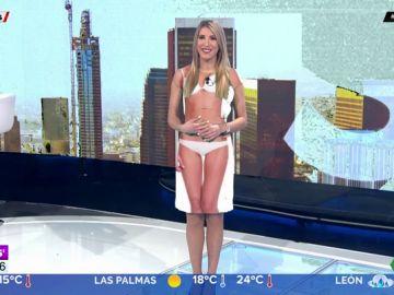 La reacción de Alba Sánchez al quedarse 'sin ropa' en el plató de Aruser@s