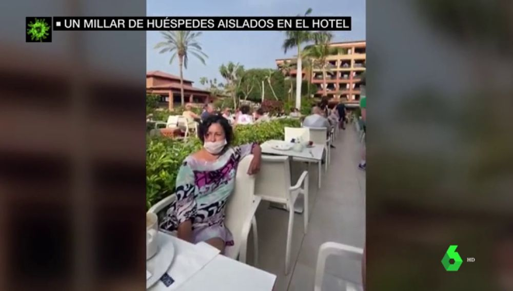 Mil personas en cuarentena en el hotel de Tenerife en el que se alojó el turista italiano con coronavirus