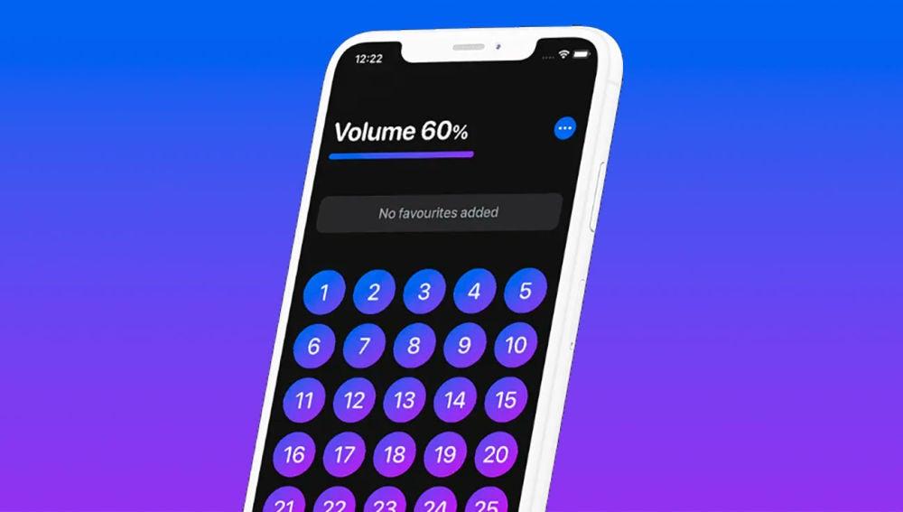 Ajustando el volumen del iPhone