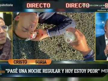 """Terrible accidente de Cristóbal Soria en mitad de la autovía: """"Me resbalé y caí de cabeza al asfalto"""""""