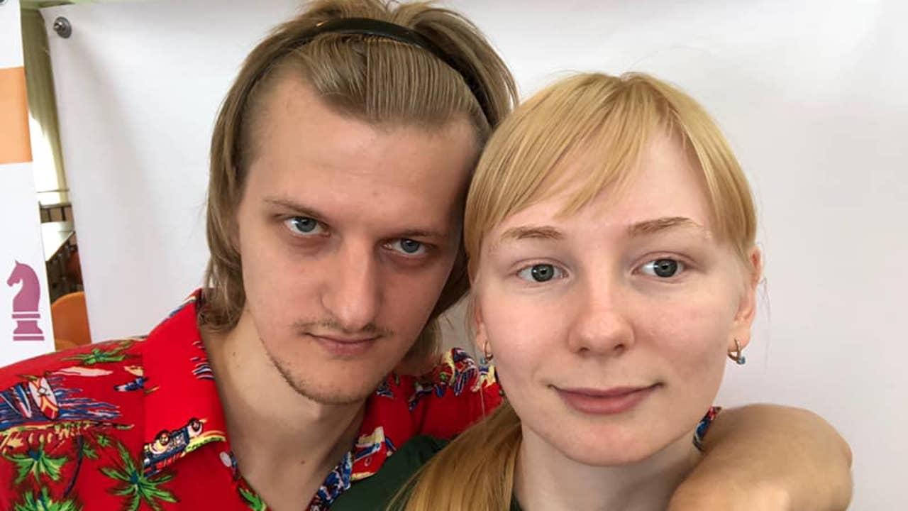 Los ajedrecistas Bogdanovich y Vernígora