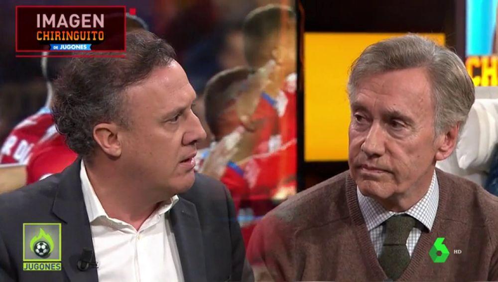 """Duro cara a cara entre Almansa y Velasco en 'El Chiringuito': """"No consiento que te rías del Rey de España"""""""