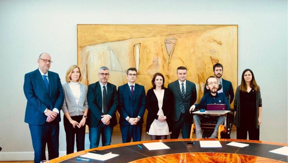 Comisión de seguimiento del pacto PSOE-UP
