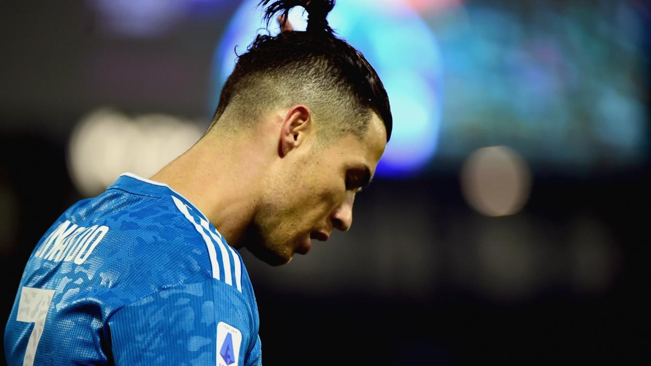 Cristiano Ronaldo, cabizbajo