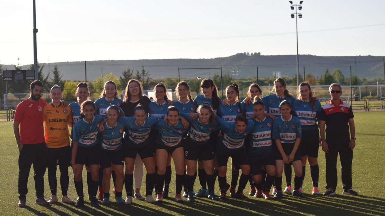 Las jugadoras del SD Logroñés
