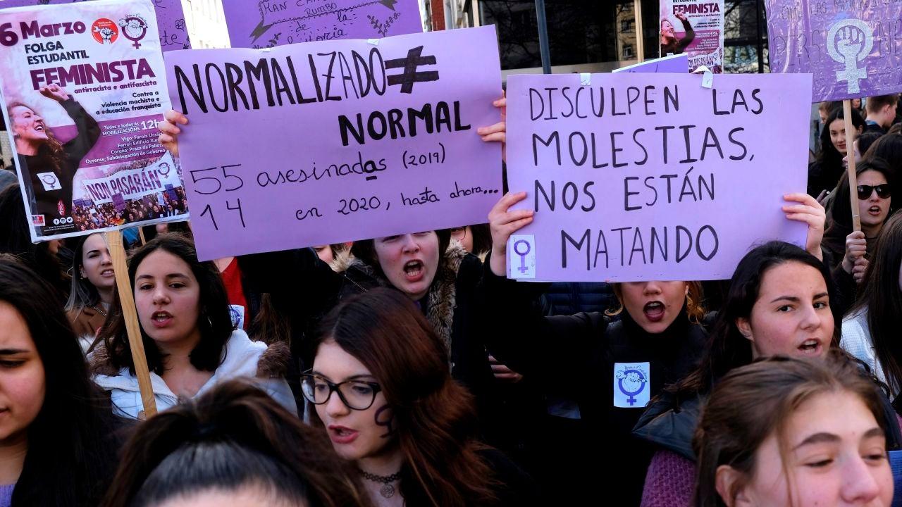 Manifestación previa al 8M en Ferrol