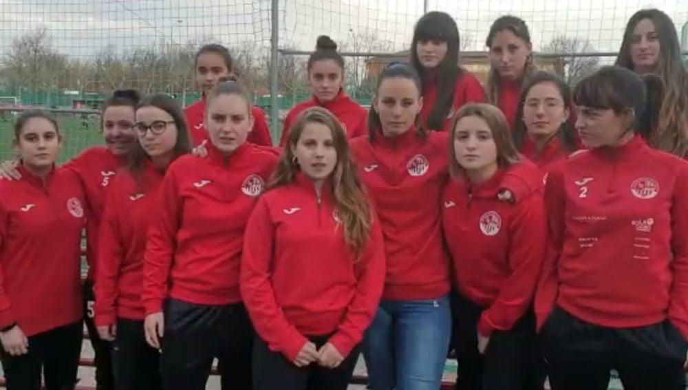Las jugadoras de la SD Logroñés