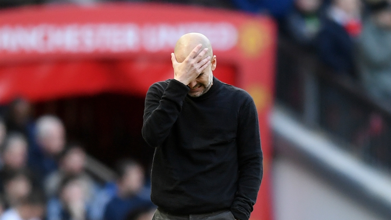 Pep Guardiola se lamenta