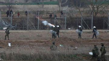 Imagen de la frontera terrestre greco-turca.