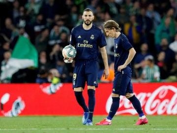 Benzema, con Modric