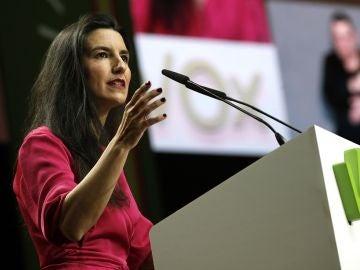 Rocío Monasterio e un acto de Vox en Madrid