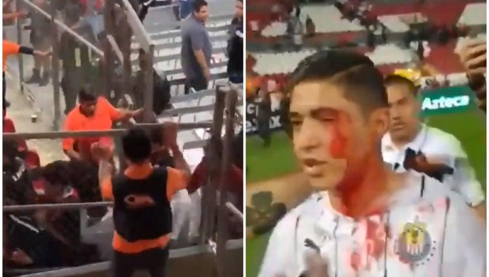 Disturbios en el estadio Jalisco