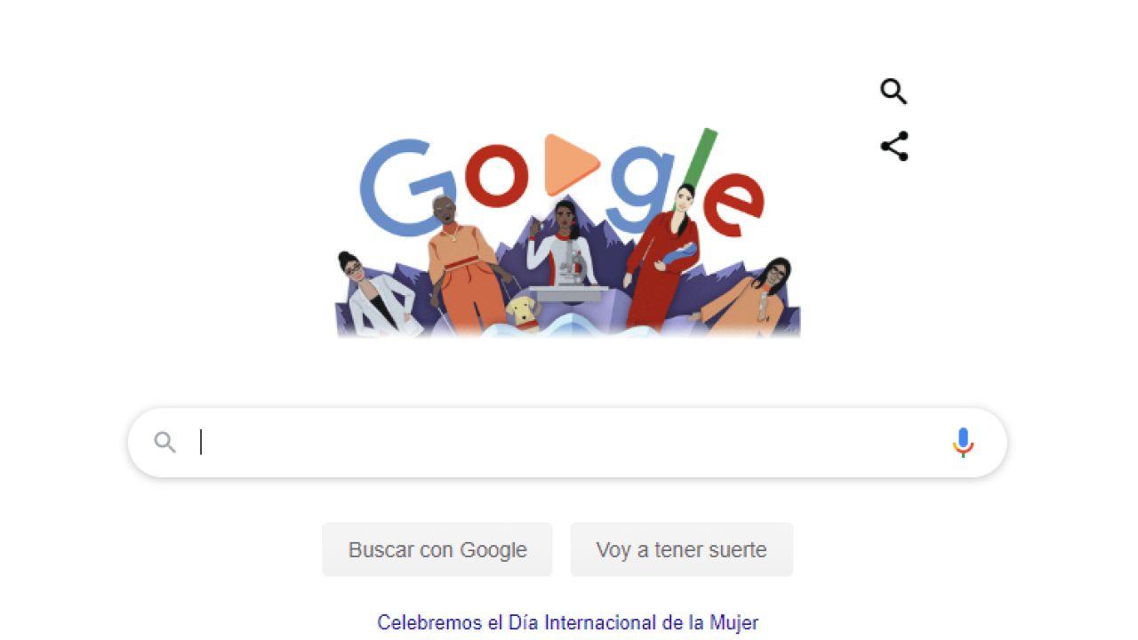 El doodle de Google por el 8M