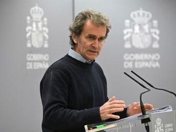 Fernando Simón, durante la comparecencia sobre el coronavirus.