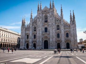Plaza del Duomo, en Milán