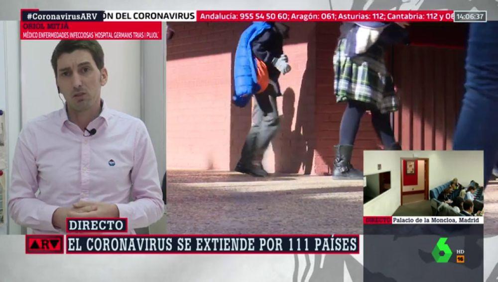 """El análisis de Oriol Mitjà de las medidas ante el coronavirus en España: """"Ya vamos tarde"""""""