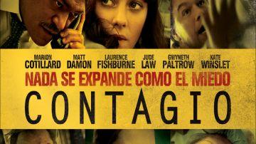 Cartel promocional de la película 'Contagio'
