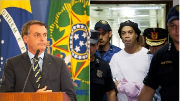 Bolsonaro y Ronaldinho