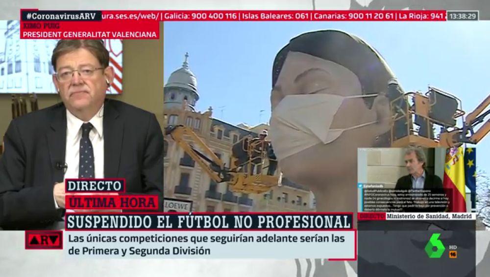 """Ximo Puig, tras aplazar las Fallas por el coronavirus: """"Fue una decisión difícil, pero responsable"""""""