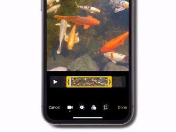 Cortar vídeos en iphone