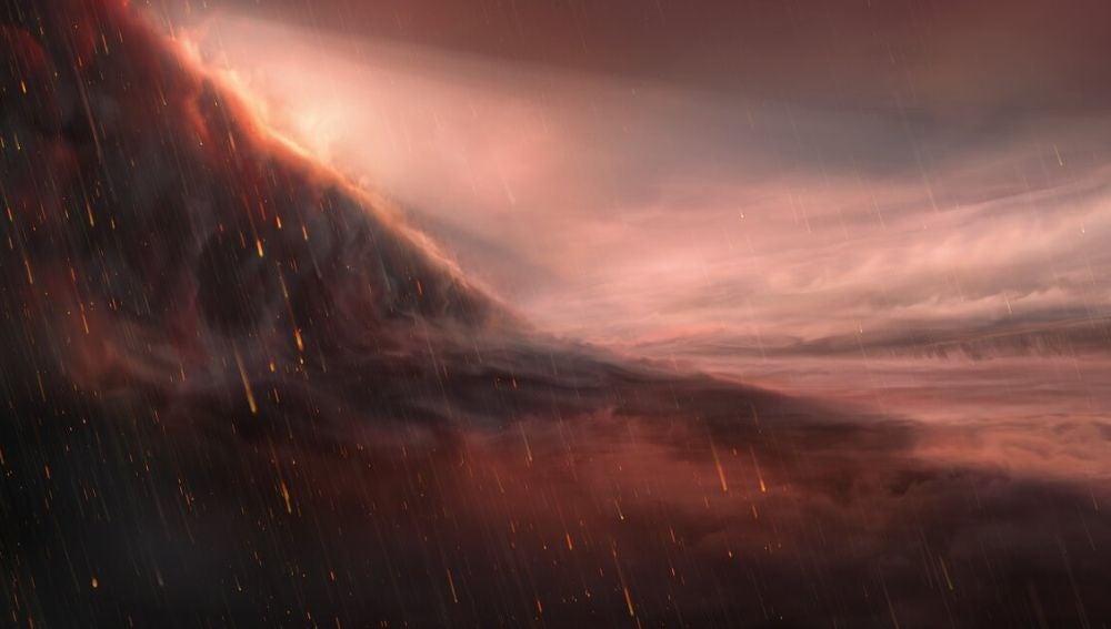 Un exoplaneta en el que llueve hierro