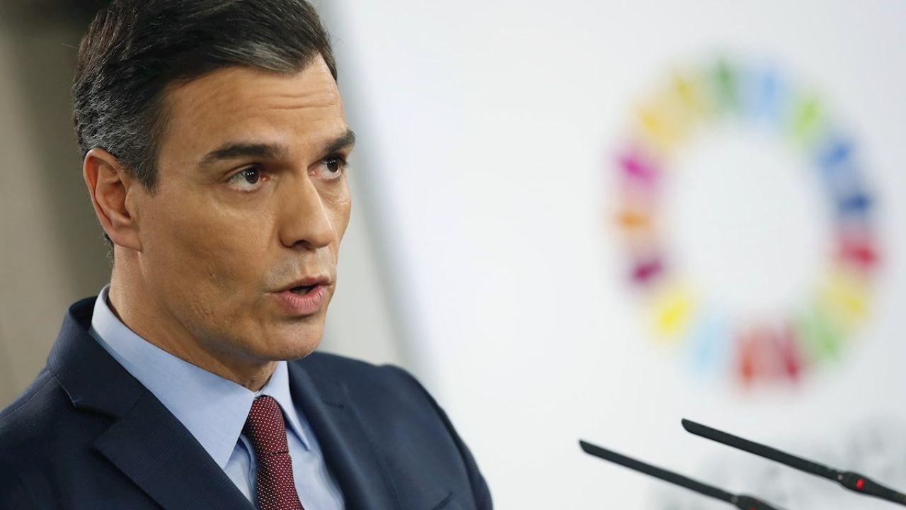 Pedro Sánchez en rueda de prensa por el coronavirus