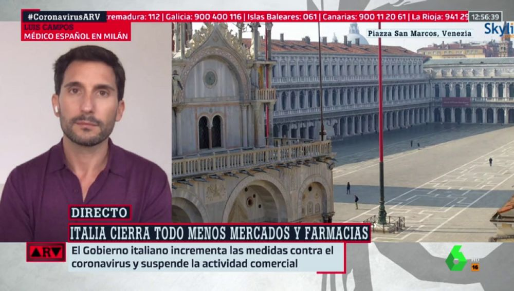 """La advertencia de un médico en Milán sobre el coronavirus: """"En Italia empezó poco a poco, como está pasando en España"""""""