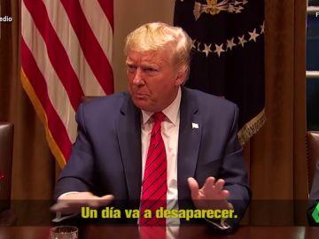 """La hemeroteca de Donald Trump bromeando con el coronavirus que ya no le haría tanta gracia: """"Es como un milagro, desaparecerá"""""""