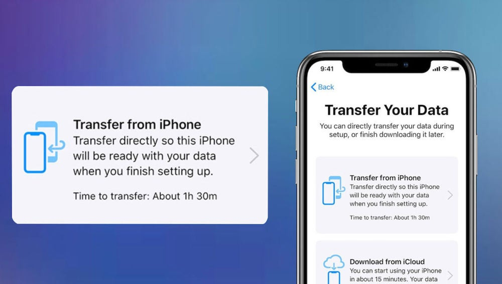 transferir los datos de tu iPhone
