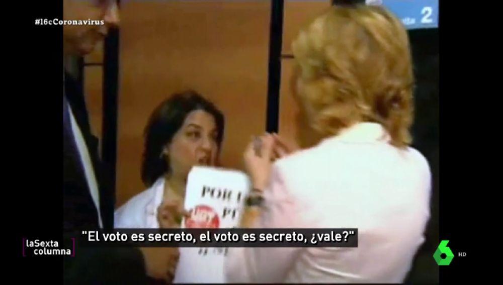 """El día que Esperanza Aguirre retó a los empleados de la Sanidad pública: """"¡El voto es secreto!"""""""