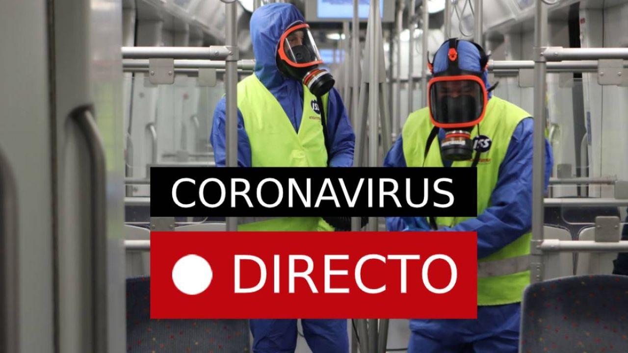 Coronavirus en España en directo | Última hora del virus, estado de alarma e infectados