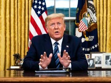 Donald Trump, presidente de los Estados Unidos, durante un discurso