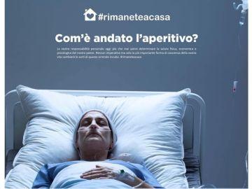 Campaña para frenar la transmisión del coronavirus en Italia