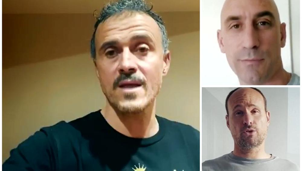 Luis Enrique, Luis Rubiales y Mateu Lahoz