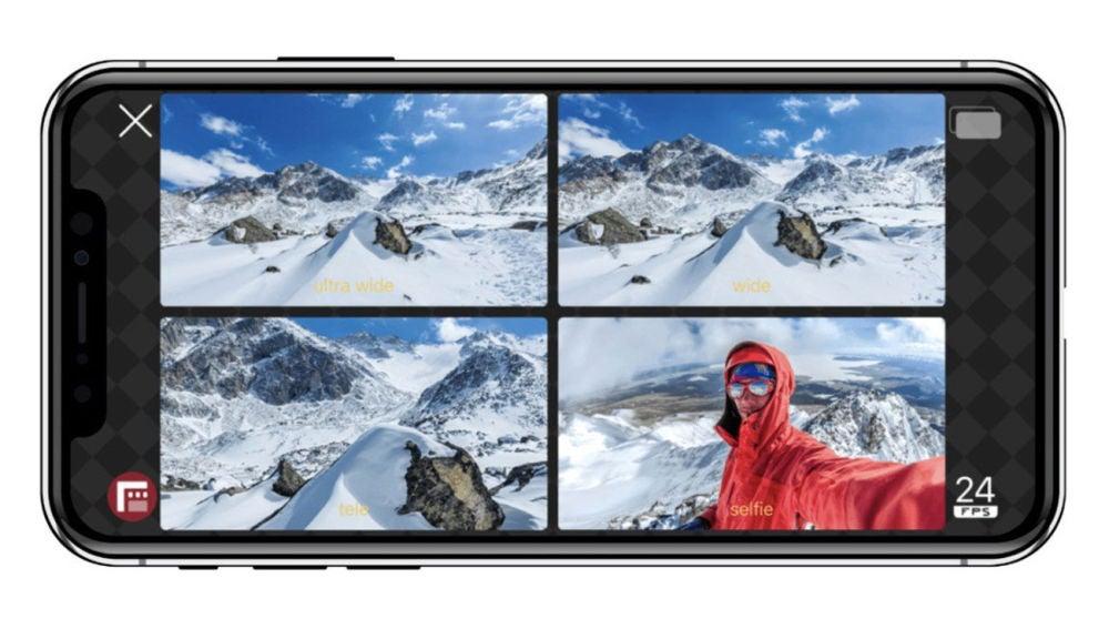 Grabación de varios vídeos a la vez en iPhone