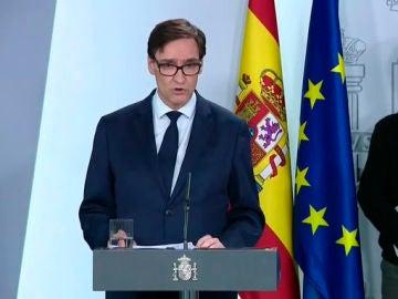 Salvador Illa en la comparecencia de Ministros