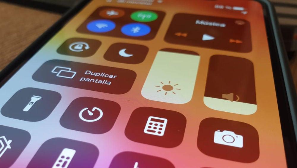 Centro de control de iPhone