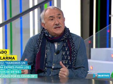 """Pepe Álvarez (UGT): """"Queremos que los autónomos que no tengan actividad por el coronavirus no deban pagar la cuota"""""""
