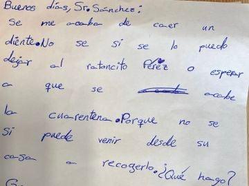 Carta de una niña sobre el ratoncito Pérez