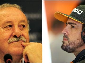 Vicente Del Bosque y Fernando Alonso