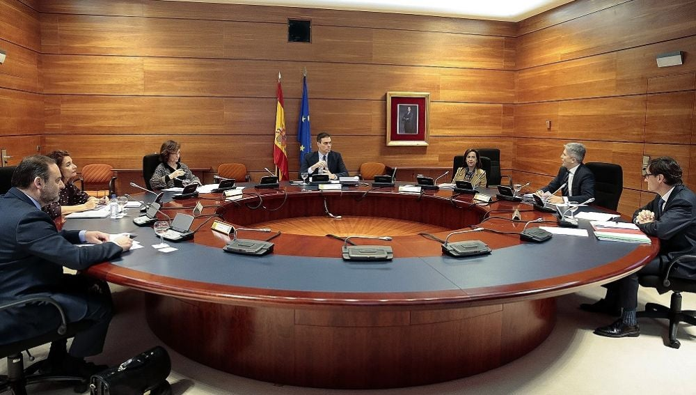El presidente del Gobierno, Pedro Sánchez preside la reunión del Consejo de Ministros