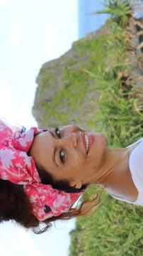 Patricia Pérez posa sonriente en su viaje a Japón