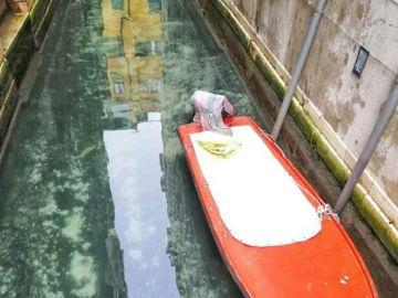 Un canal de Venecia con aguas cristalinas por la crisi del Coronavirus