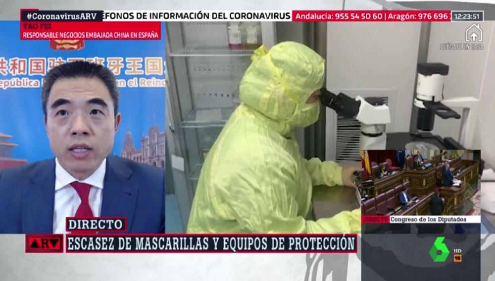 """Yao Fei, responsable de Negocios de la Embajada China: """"Tomará tiempo comprobar la seguridad y eficacia de la vacuna"""""""