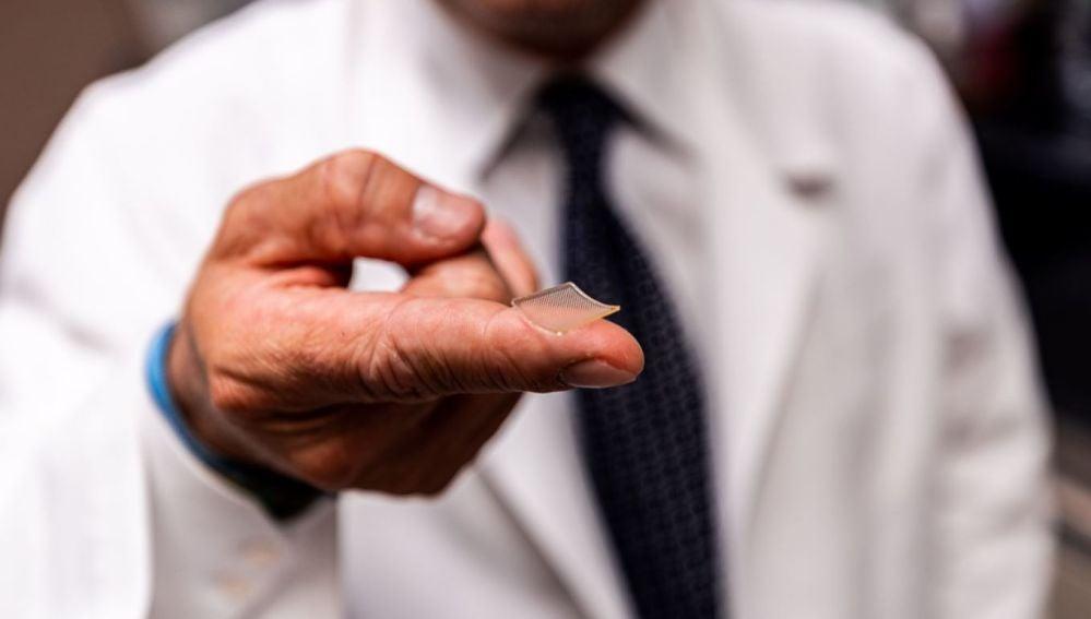 Parche de vacuna con microagujas