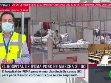 El coordinador del hospital de Ifema, Fernando Prados