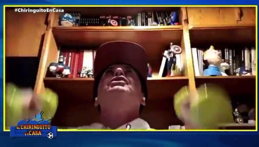 ¿Es Rocky Balboa?: Juanma Rodríguez se pone a hacer pesas en 'El Chiringuito'
