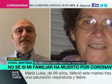 Daniel Martínez, un hombre que perdió a su madre en una residencia