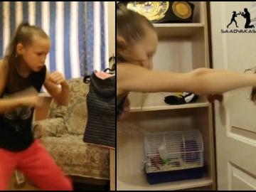 La niña boxeadora