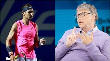 Rafa Nadal y Bill Gates